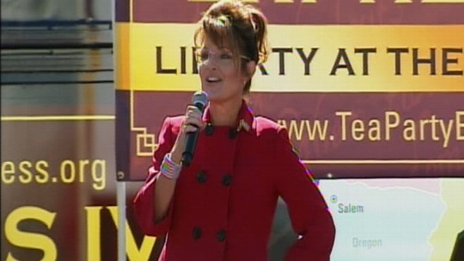 Video: Sarah Palin fires up Tea Party audiende in Reno, Nevada.