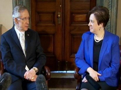 Video of Senator Harry Reid meeting with Elena Kagan on Capitol Hill.