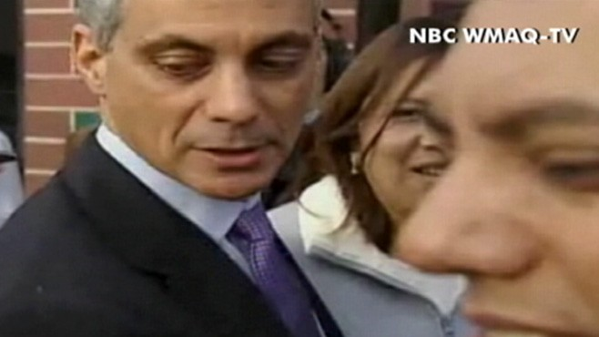 VIDEO: Egg Thrown at Rham Emanuel
