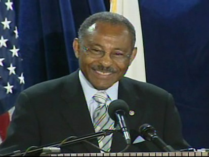 Video of Sen. Roland Burris announcing he will not seek reelection to the Senate in 2010.