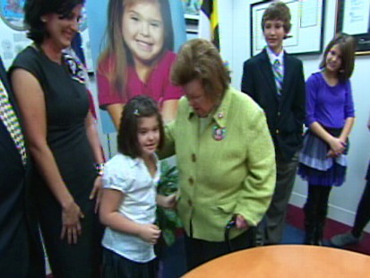 Video of Rosa and her family meeting with Senator Barbara Mikulski on