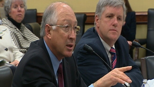 Video of Secretary Ken Salazar testifying on Capitol Hill about BP oil spill.