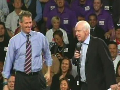 Video of Senator Scott Brown campaigning for Senator John McCain