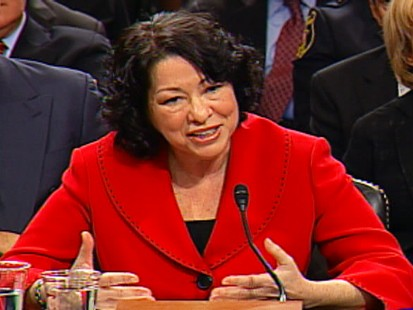 "Video of Judge Sonia Sotomayor addressing her ""wise Latina"" remark."