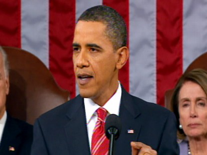 Video of President Obama talking about the economy in the State of the Union.