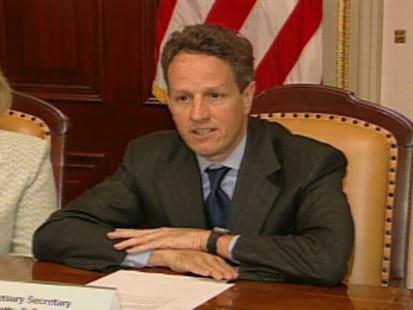 Video of Geithner on financial regulatory reform