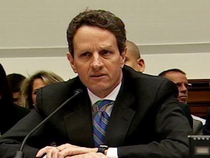 Video of Treasury Secretary Tim Geithner on Capitol Hill for a testimony about AIG.