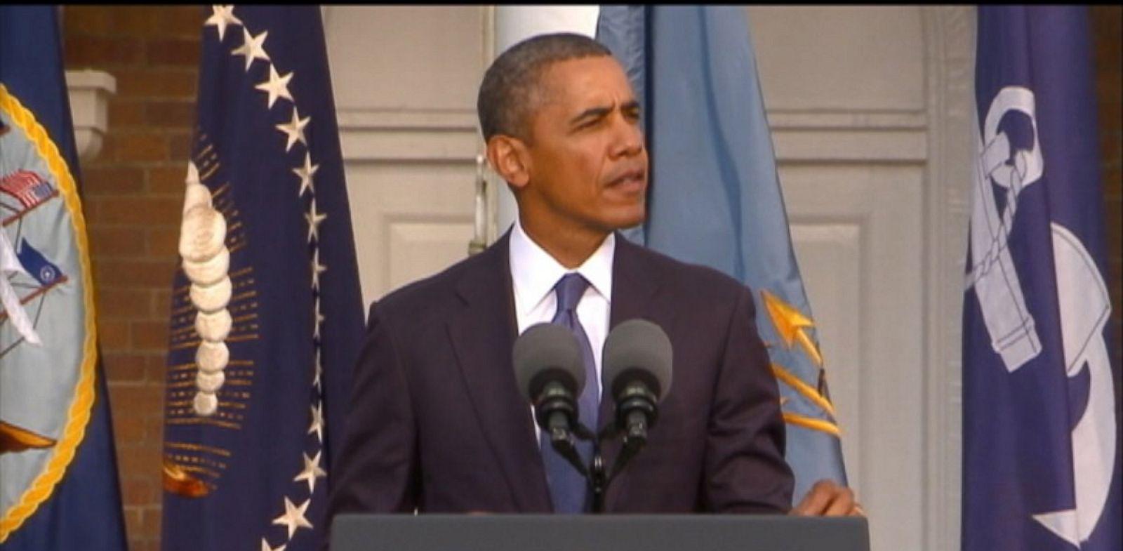 PHOTO: President Barack Obama speaks at the Navy Yard Memorial Service in Washington, Sept. 22, 2013.