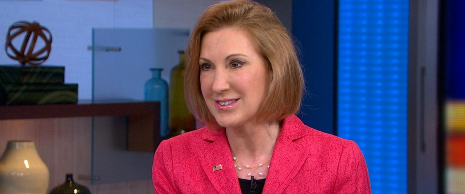 """PHOTO: Carly Fiorina is pictured on """"Good Morning America"""" on May 4, 2015."""