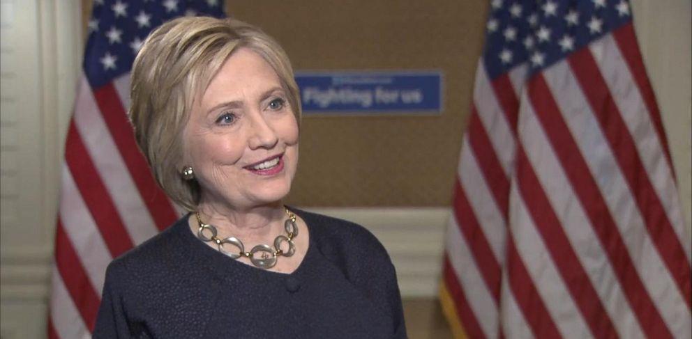 PHOTO: Liz Kreutz interviewed Hillary Clinton, May 26, 2016.