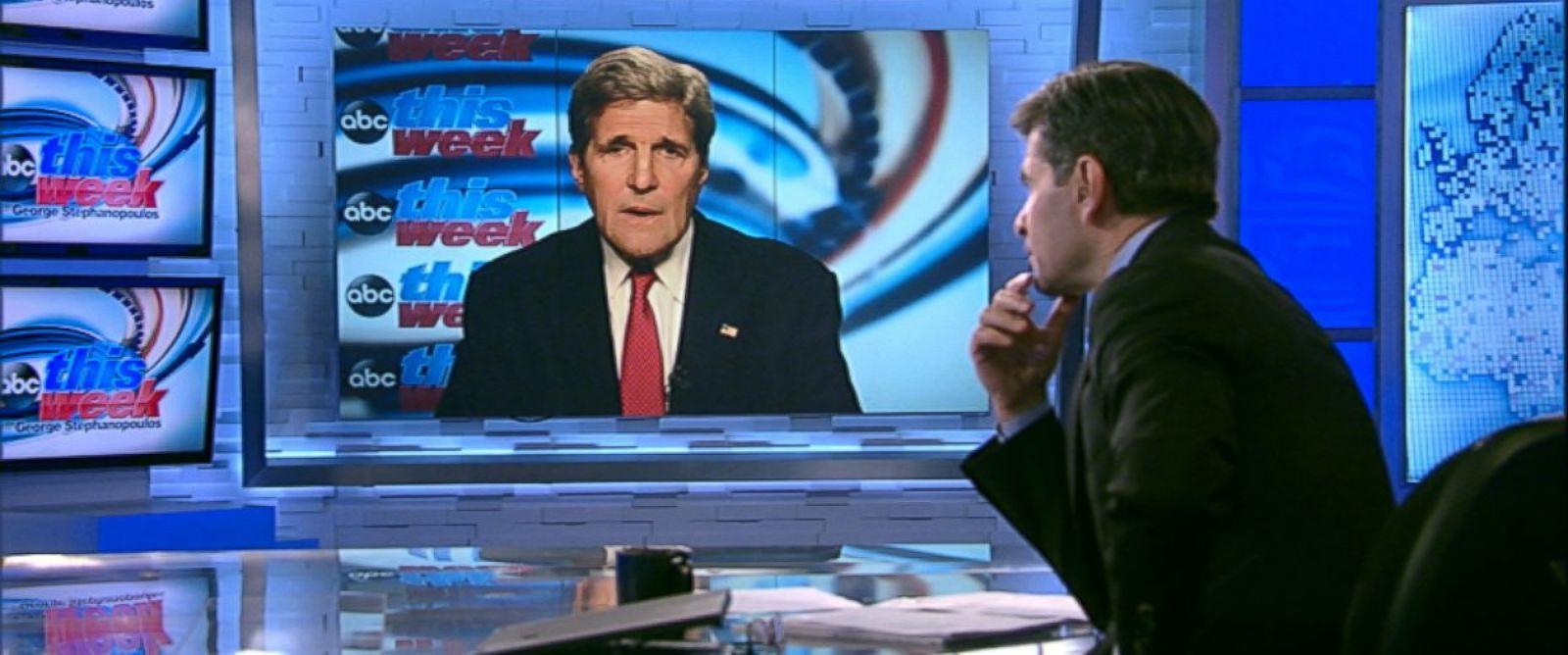 PHOTO: Secretary of State John Kerry on This Week