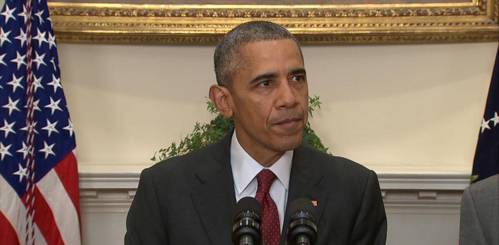 PHOTO: President Obama speaks about homeland security, Nov. 25, 2015.