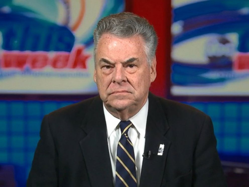 PHOTO: Rep. Peter King (R) New York on This Week