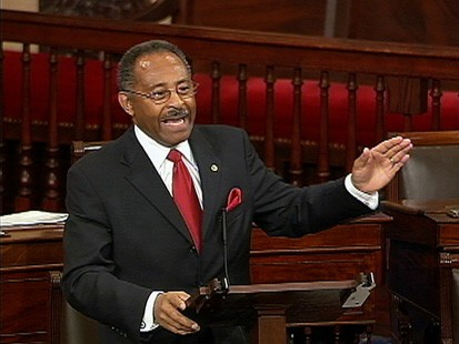 VIDEO: Sen. Roland Burris filibusters on health care reform with a holiday reading.