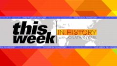 "PHOTO:""This Week in History"" with ABCs Jonathan Karl."