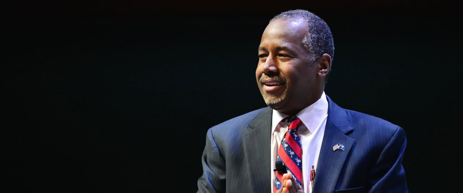 PHOTO: Republican presidential candidate Ben Carson speaks at a presidential forum sponsored by Heritage Action at the Bon Secours Wellness Arena, Sept. 18, 2015, in Greenville, S.C.
