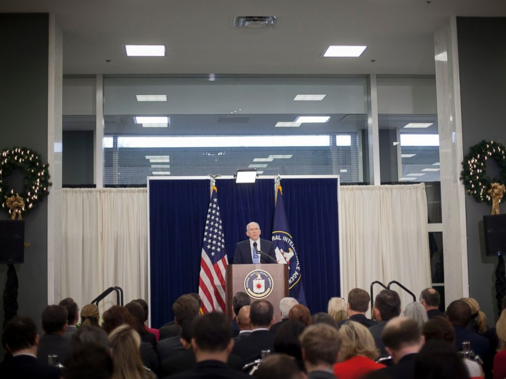PHOTO: CIA Director John Brennan speaks during a news conference at CIA headquarters in Langley, Va., Dec. 11, 2014.