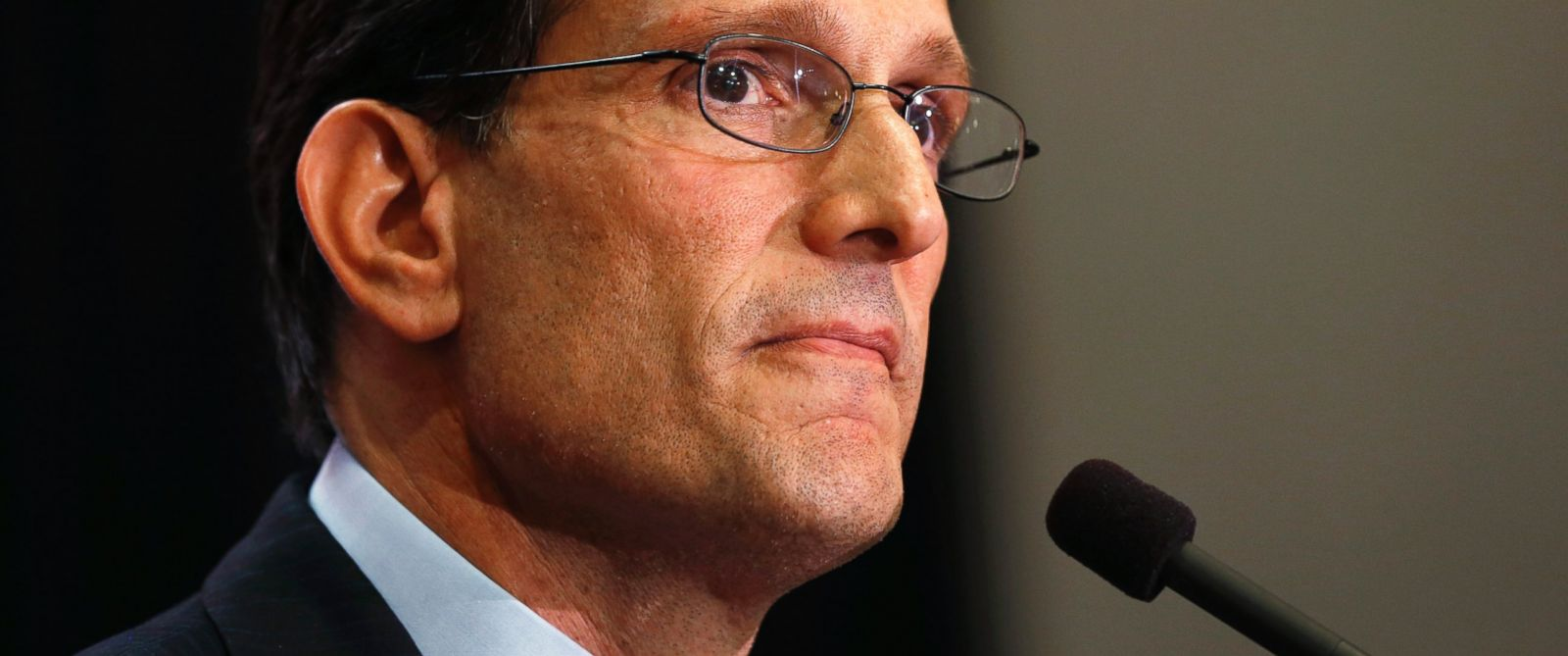 PHOTO: House Majority Leader Eric Cantor delivers a concession speech in Richmond, Va., June 10, 2014. Cantor lost in the GOP primary to tea party candidate Dave Brat.