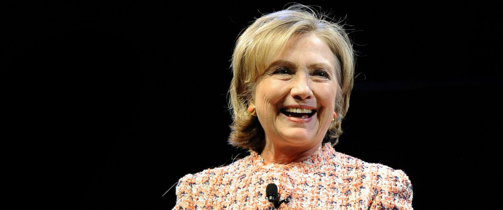 PHOTO: Former Secretary of State Hillary Rodham Clinton speaks at the Edmund Fusco Contemporary Issues Forum at the University of Connecticut, April 23, 2014, in Storrs, Conn.