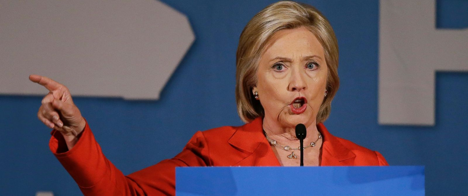 PHOTO: Democratic presidential candidate Hillary Rodham Clinton speaks during the Iowa Democratic Partys Hall of Fame Dinner, Friday, July 17, 2015, in Cedar Rapids, Iowa.