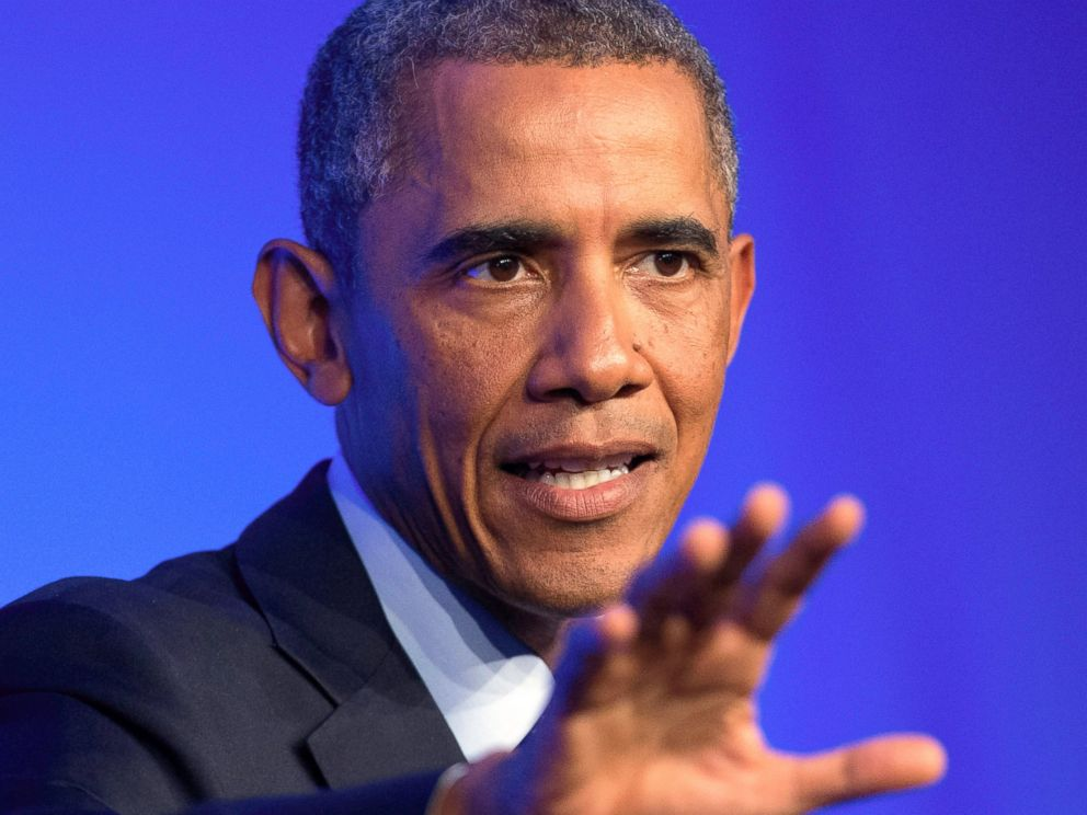 PHOTO: U.S. President Barack Obama speaks during a media conference after a NATO summit at the Celtic Manor Resort in Newport, Wales on Sept. 5, 2014.
