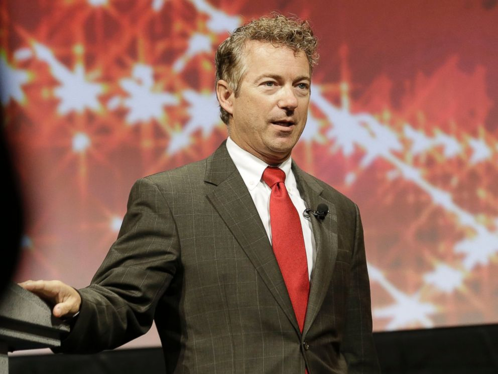 PHOTO: Kentucky Sen. Rand Paul speaks at the Americans for Prosperity gathering Aug. 29, 2014, in Dallas.
