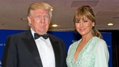 PHOTO: Donald and Melania Trump arrive for the 2015 White House Correspondents Association Annual Dinner at the Washington Hilton Hotel on April 25, 2015.