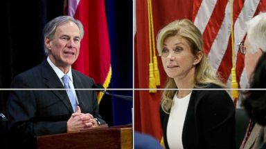 PHOTO: Texas Attorney General Greg Abbott (left) and State Senator Wendy Davis compete in the 2014 Texas governor race.