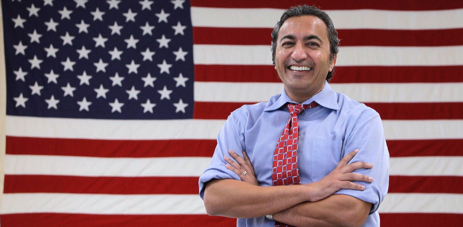 PHOTO: Rep. Ami Bera, poses for a photo at his campaign office in Elk Grove, Calif., Oct. 26, 2012.