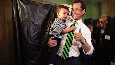 PHOTO: Anthony Weiner Exits The Polls