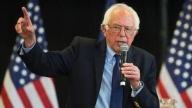 PHOTO: Democratic presidential candidate, Sen. Bernie Sanders, I-Vt. speaks during a town hall at Gettysburg College, April 22, 2016, in Gettysburg, Pa.