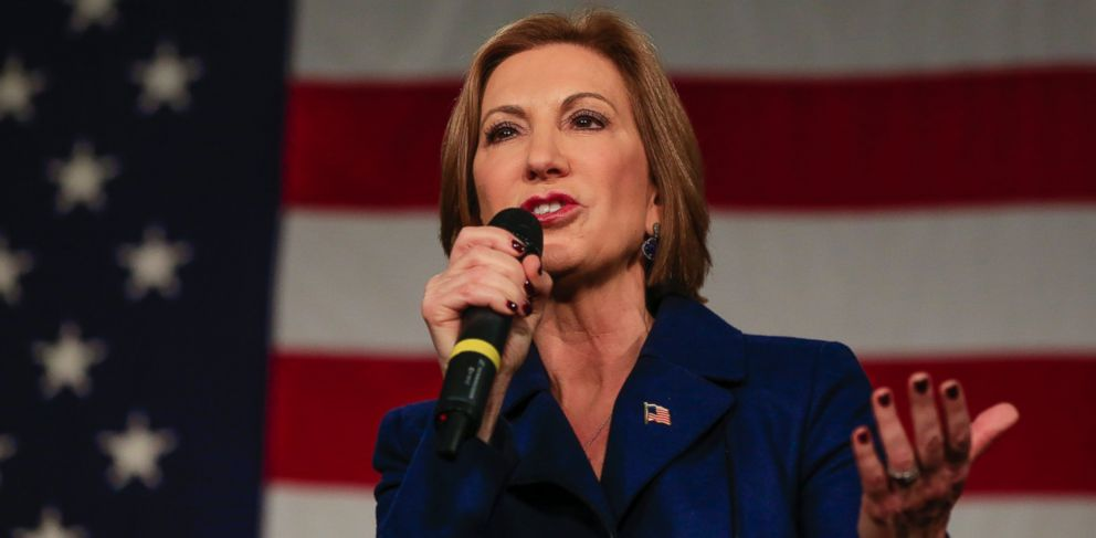 PHOTO: Republican presidential candidate Carly Fiorina speaks at the Iowa GOPs Growth and Opportunity Party at the Iowa state fair grounds in Des Moines, Iowa, Oct. 31, 2015.