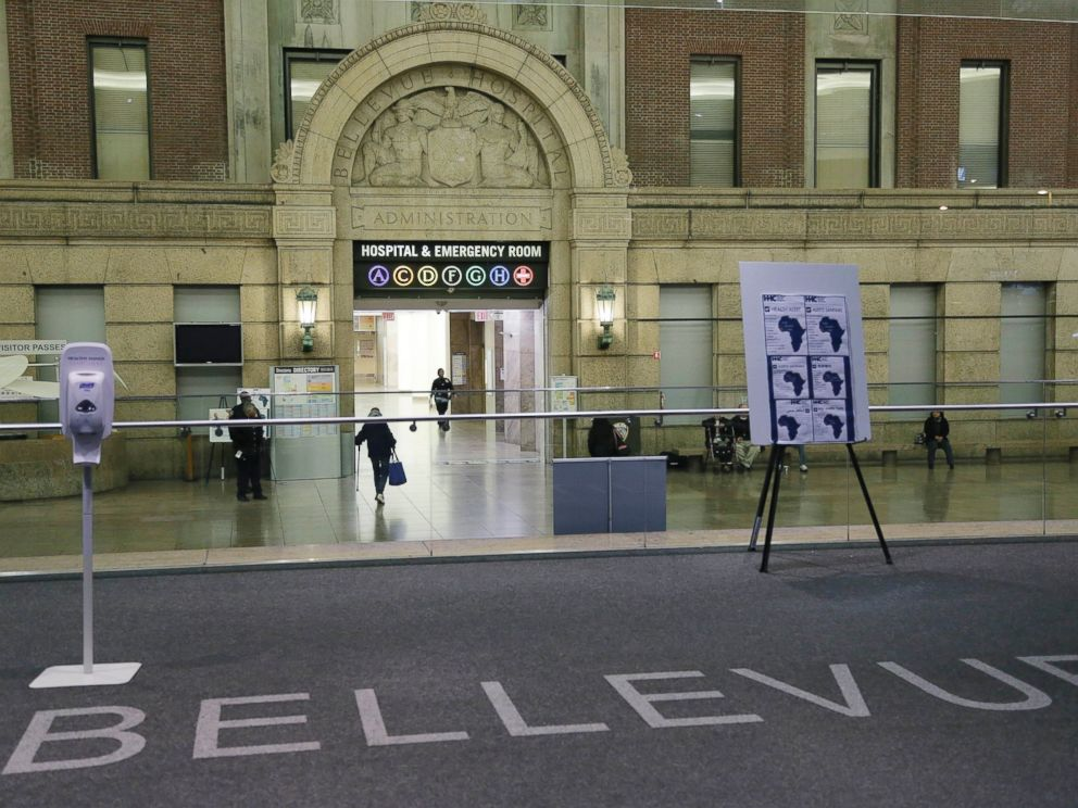 PHOTO: The lobby of Bellevue Hospital is seen, Oct. 24, 2014, in New York.