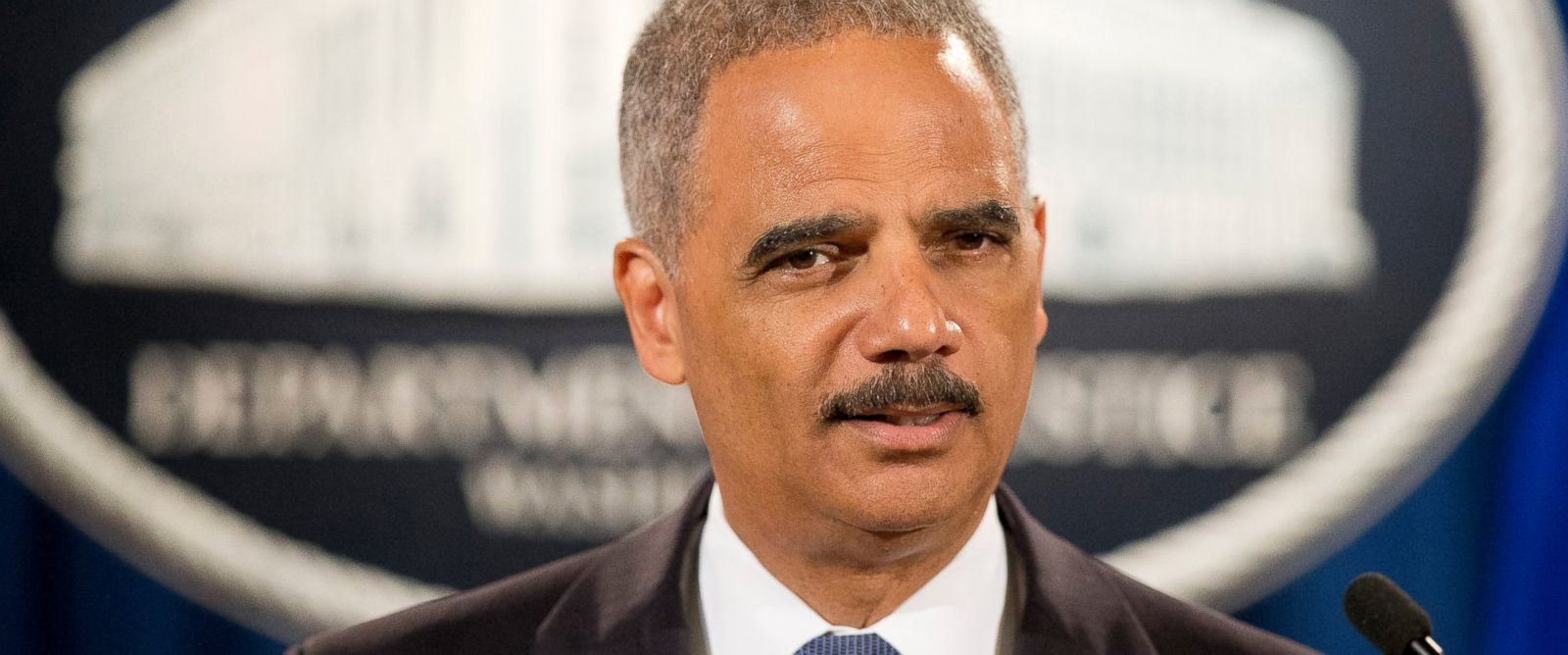 PHOTO: Attorney General Eric Holder speaks during a news conference at the Justice Department in Washington, Sept. 4, 2014.
