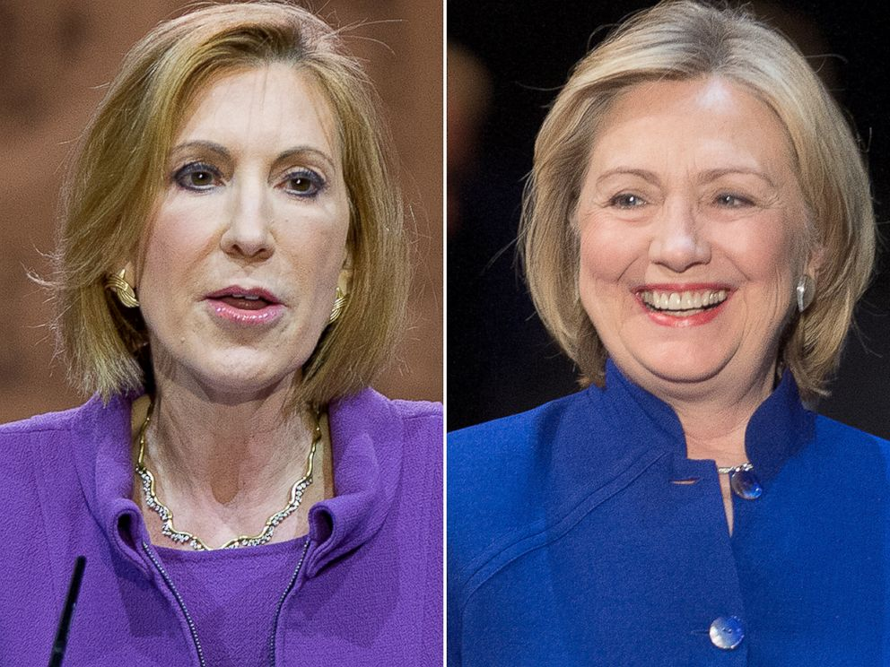 PHOTO: Cary Fiorina and Hillary Clinton