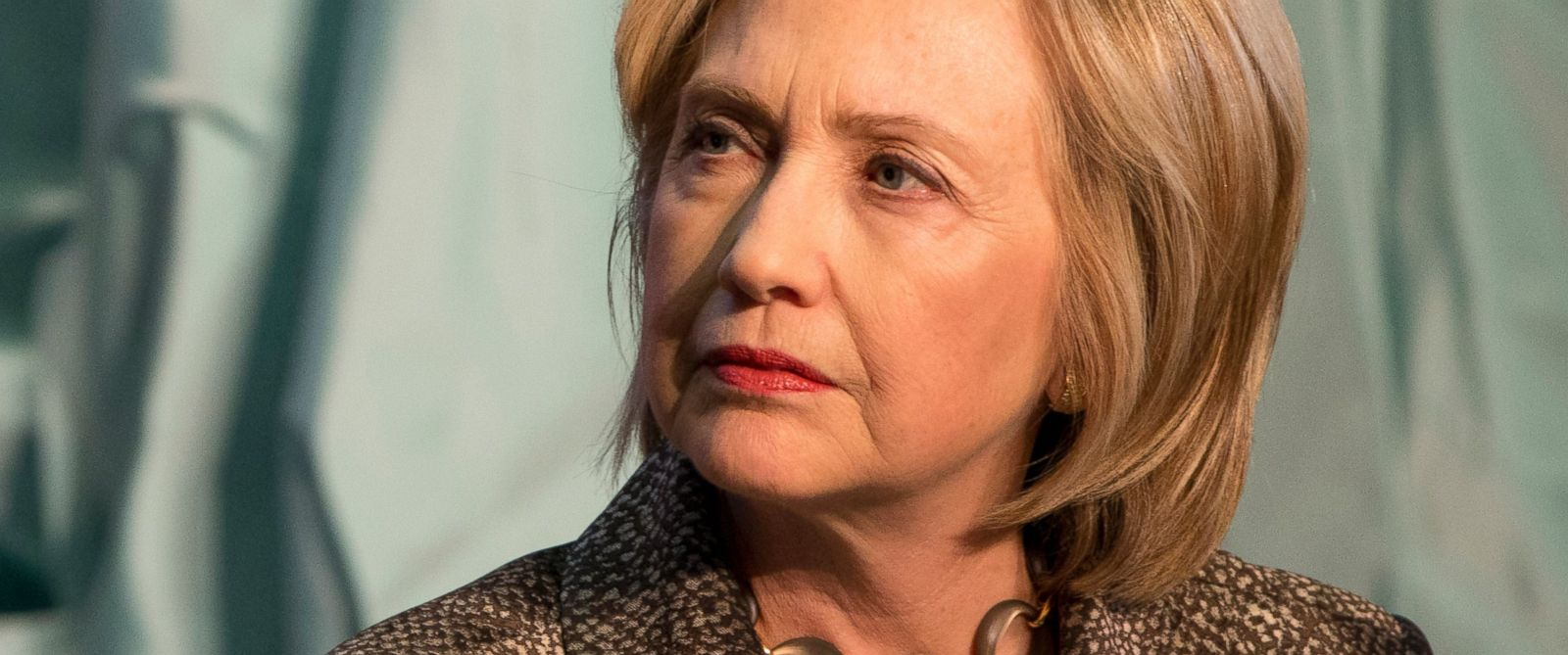 PHOTO: Democratic presidential candidate Hillary Rodham Clinton attends The Hillary Rodham Clinton Awards for Advancing Women in Peace and Security, in the Riggs Library at Georgetown University in Washington, April 22, 2015.