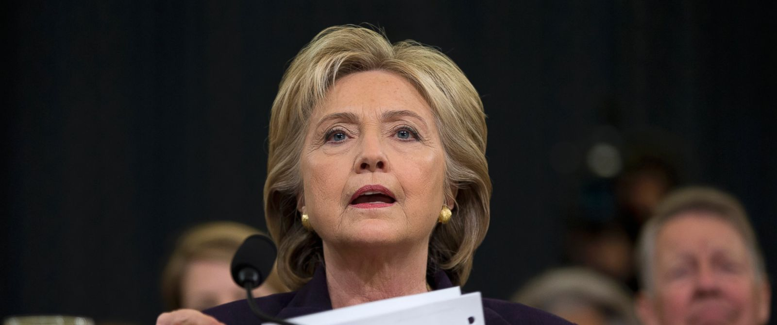 PHOTO: Democratic presidential candidate Hillary Clinton is seen on Capitol Hill in Washington, Oct. 22, 2015, prior to testifying before the House Benghazi Committee.