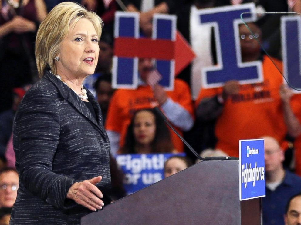 PHOTO: Democratic presidential candidate, Hillary Clinton speaks during a rally at Cuyahoga Community College, March 8, 2016, in Cleveland.