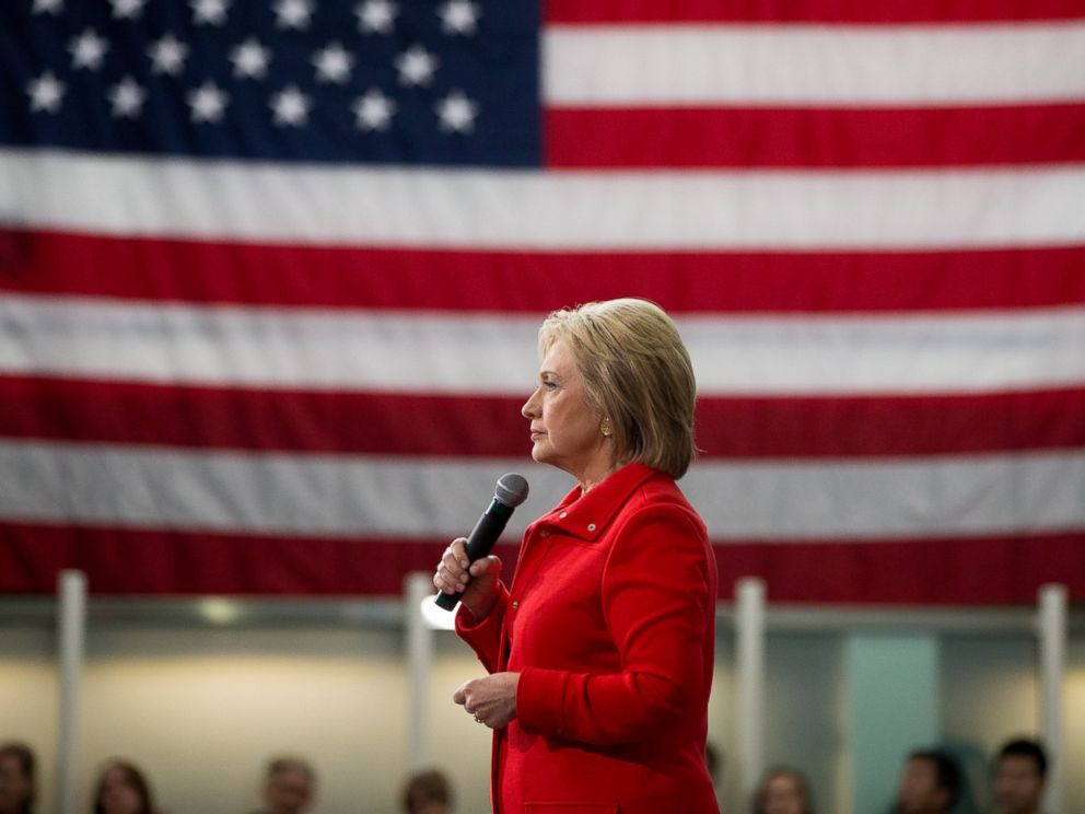 PHOTO: Democratic presidential candidate Hillary Clinton speaks at a rally at Iowa State University in Ames, Iowa, Jan. 30, 2016.
