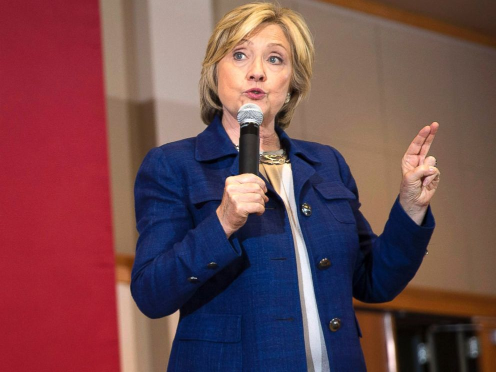 PHOTO: Democratic presidential candidate Hillary Rodham Clinton speaks during an organizing event at the University of Northern Iowa, Sept. 14, 2015, in Cedar Falls, Iowa.