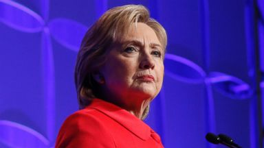 PHOTO: Democratic presidential candidate, Hillary Clinton, speaks in St. Paul, Minn., Feb. 12, 2016.