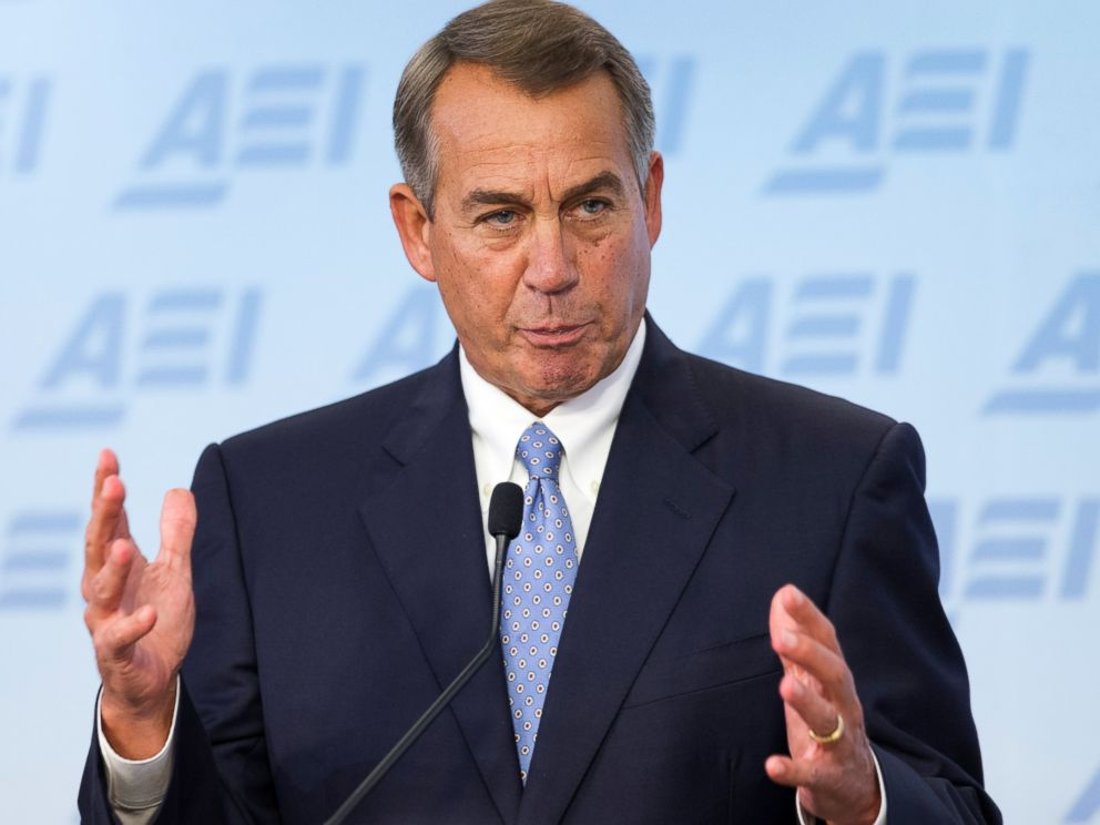 PHOTO: House Speaker John Boehner, R-Ohio, outlines his five-point long-term vision for resetting Americaâ??s economic foundation, during a speech in Washington, Sept. 18, 2014.