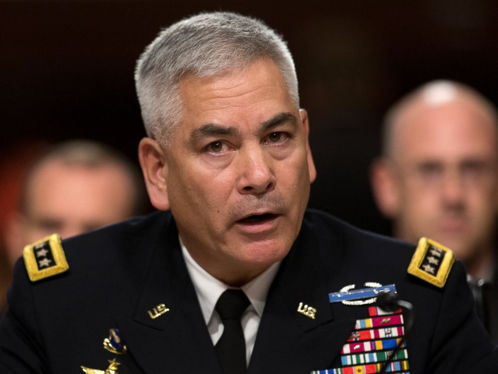 PHOTO: U.S. Forces-Afghanistan Resolute Support Mission Commander Gen. John Campbell testifies on Capitol Hill in Washington, Oct. 6, 2015, before the Senate Armed Services Committee.