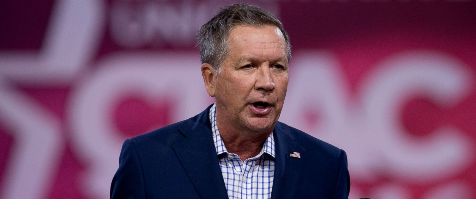 PHOTO: Republican presidential candidate, Ohio Gov. John Kasich speaks during the Conservative Political Action Conference (CPAC), March 4, 2016, in National Harbor, Md.