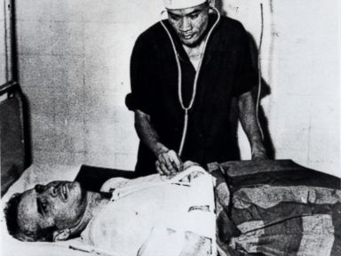 PHOTO: John McCain is administered to in a Hanoi, Vietnam hospital as a prisoner of war in the fall of 1967.