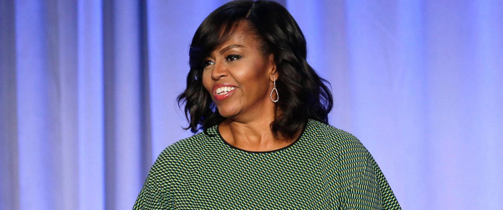 """PHOTO: First lady Michelle Obama participates in a panel entitled """"Media with Purpose"""" at the American Magazine Media 360 Conference in New York, Feb. 2, 2016."""