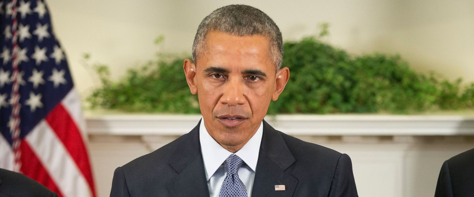 PHOTO: President Barack Obama speaks in the Roosevelt Room of the White House in Washington, Oct. 15, 2015.