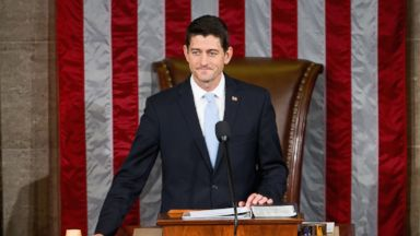 PHOTO: Newly elected House Speaker Paul Ryan of Wis., gavels in the House Chamber on Capitol Hill in Washington, Oct. 29, 2015.