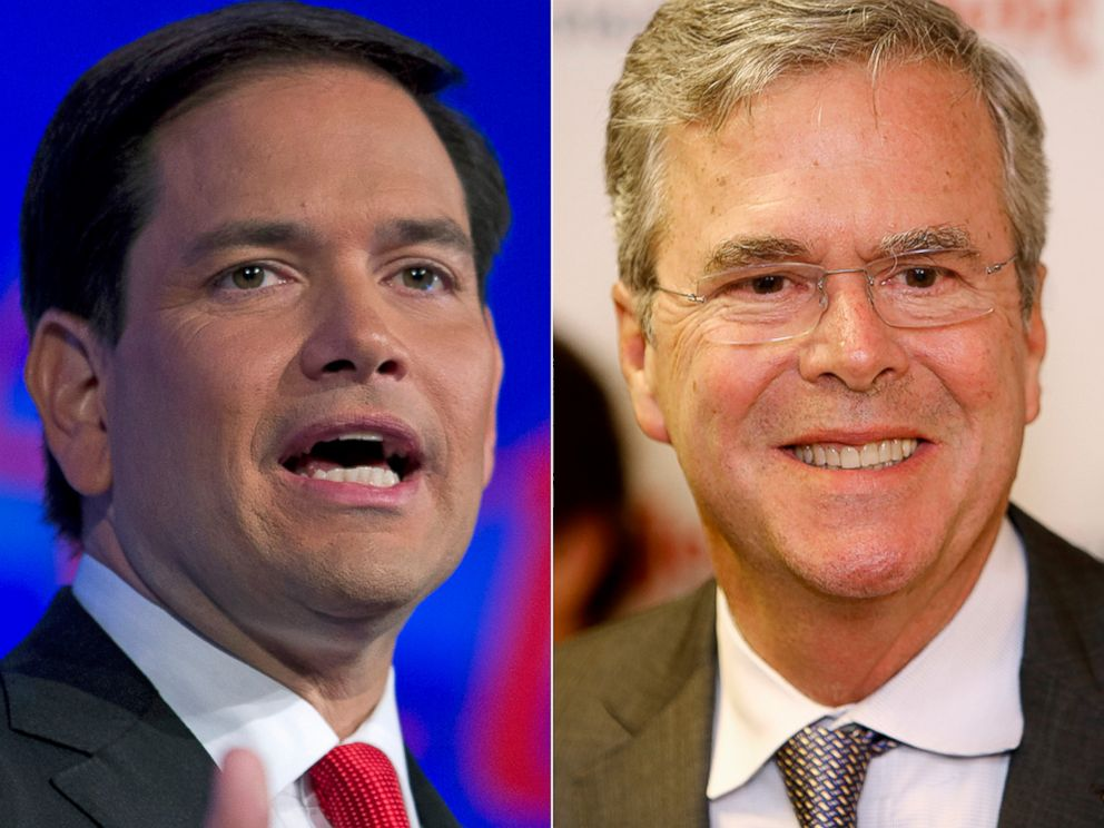 PHOTO: Marco Rubio, left, and Jeb Bush.