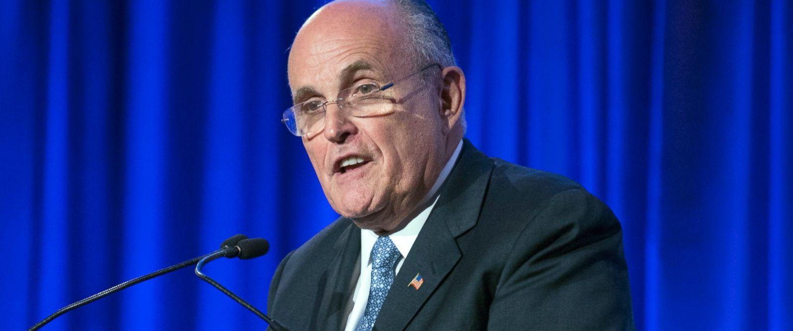 PHOTO: Former New York City Mayor Rudy Giuliani speaks in New York, May 12, 2014.